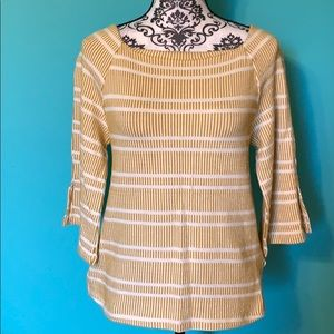 Anthropologie Postage Stamp Striped Sweater Blouse